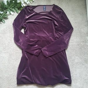 ⬇️Lands' End Purple Velour Dress, M